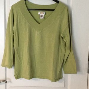 Talbots green sweater